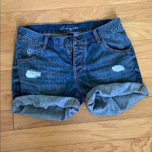 Victoria's Secret distressed cutoff jean shorts